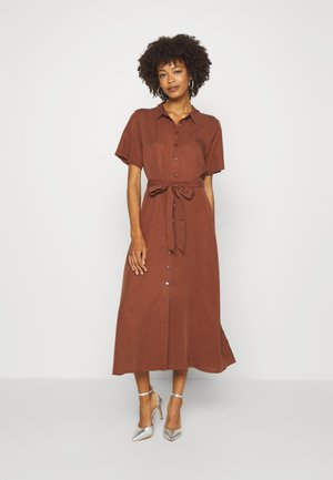 DILAY - Vestido camisero - chocolate glaze