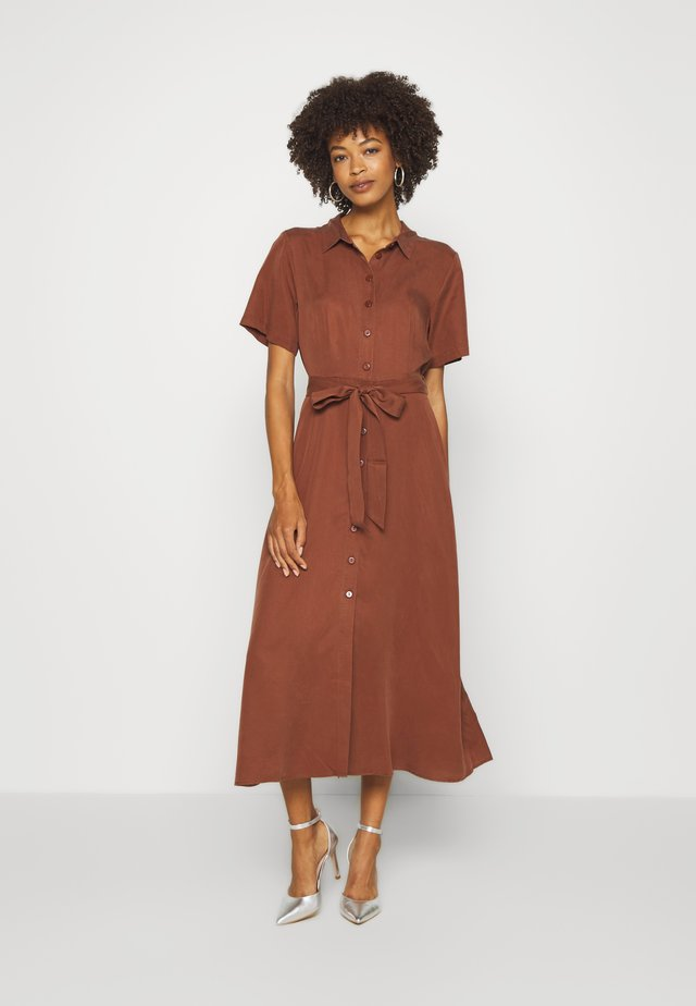 DILAY - Shirt dress - chocolate glaze