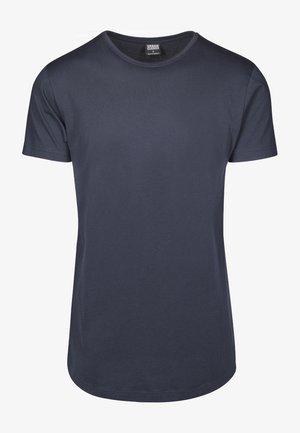 SHAPED LONG TEE DO NOT USE - T-shirt - bas - navy