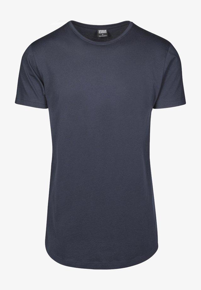 SHAPED LONG TEE DO NOT USE - T-shirt basic - navy