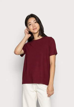 VMRUBA O NECK TEE  - Jednoduché triko - cabernet