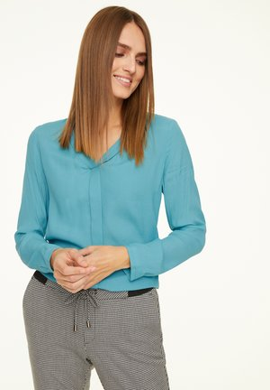 MIT V-NECK - Blouse - aqua