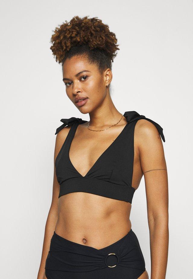 AVA TIE SHOULDER - Bikini top - black