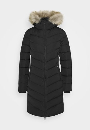 LONG FITTED PUFFER - Down coat - ck black