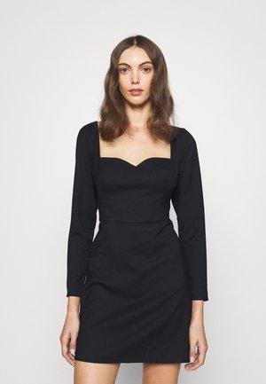TWIST FRONT SKIRT SLIM - Cocktail dress / Party dress - black solid