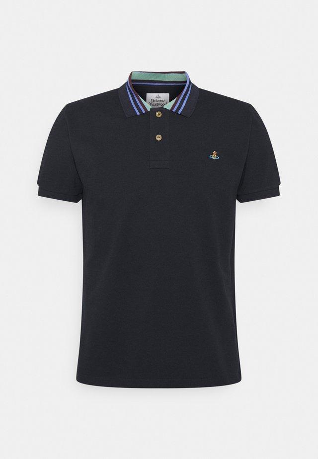 CLASSIC STRIPE COLLAR - Poloshirt - navy