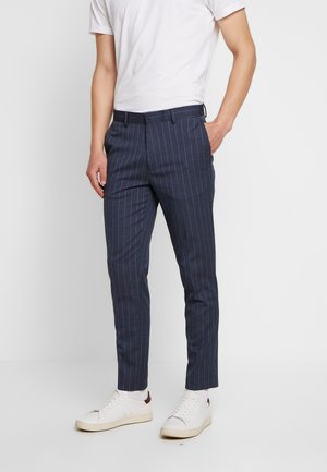 CHALK STRIPE - Tygbyxor - blue