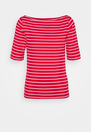 BOATNECK - Print T-shirt - red white