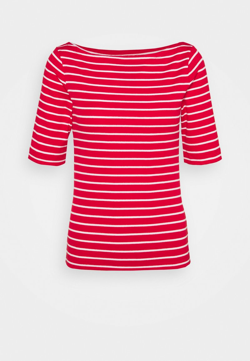 GAP Petite - BOATNECK - Print T-shirt - red white