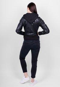 Freaky Nation - GLANCE UP-FN - Leather jacket - black - 4