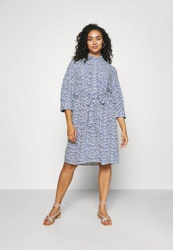 SHIRT DRESS WITH BELT - Shirt dress - blue aquarelle
