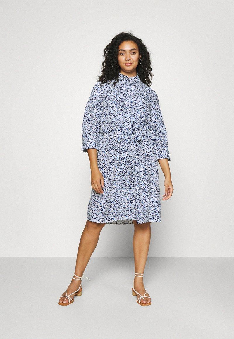 MY TRUE ME TOM TAILOR - SHIRT DRESS WITH BELT - Shirt dress - blue aquarelle