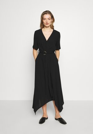 RING WRAP SOLID - Denní šaty - black