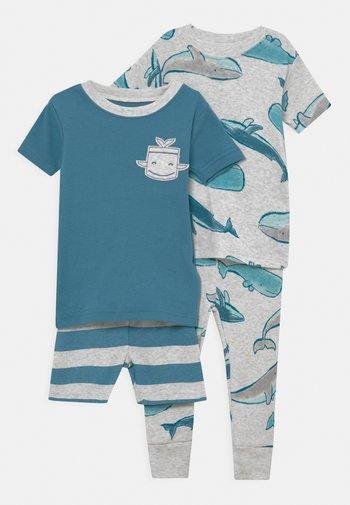 WHALE 2 PACK - Pyžamová sada - blue-grey/grey