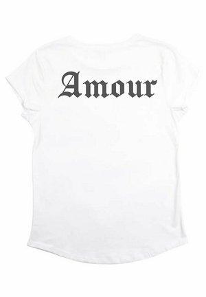 AMOUR GOTHIC BACK RU - T-shirt print - white