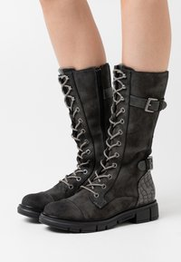 Mustang - Lace-up boots - dunkelgrau - 0