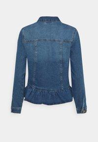 ONLY - ONLALLY FRILL JACKET - Denim jacket - medium blue denim - 1