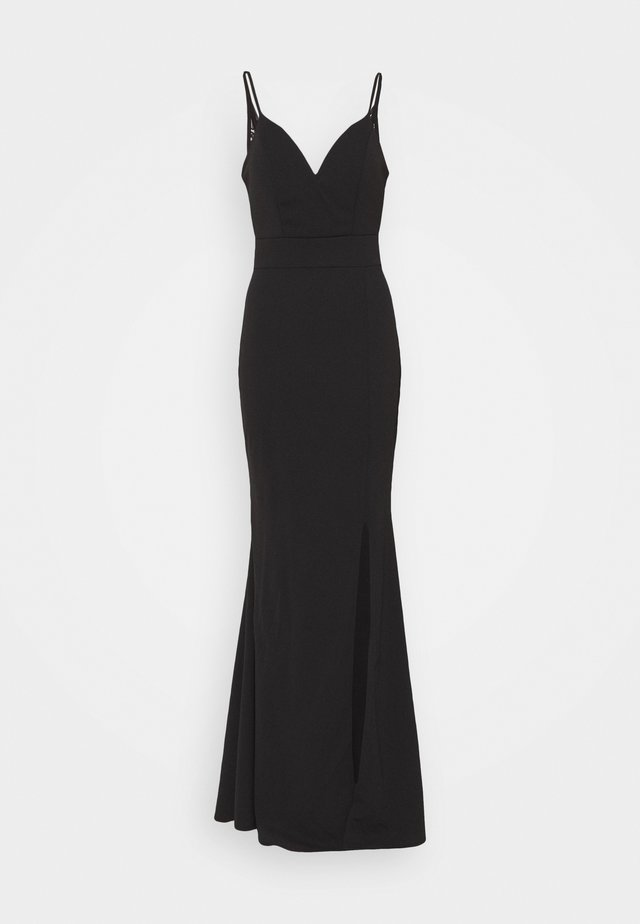 ANNALISE HIGH SPLIT MAXI DRESS - Abito da sera - black