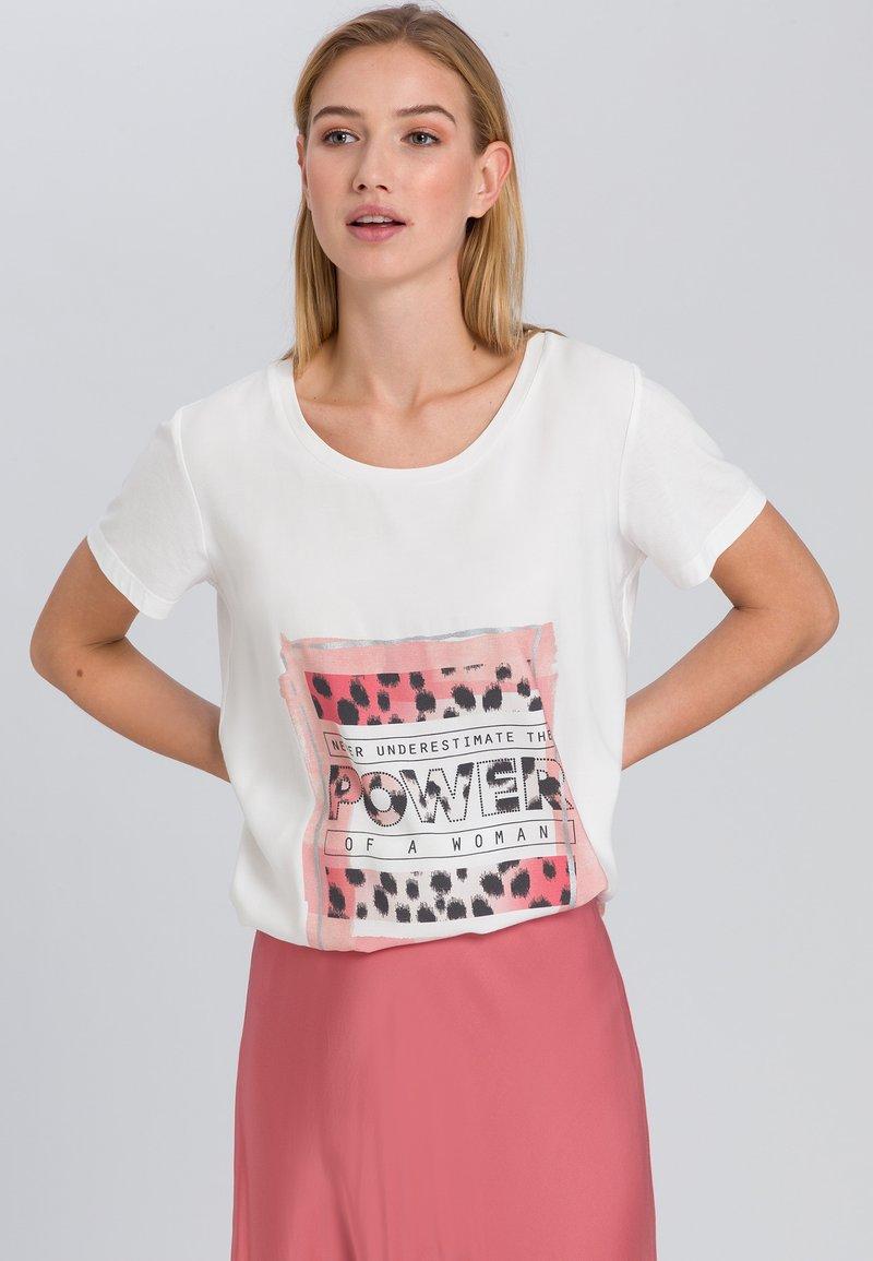 Marc Aurel - Print T-shirt - off white varied