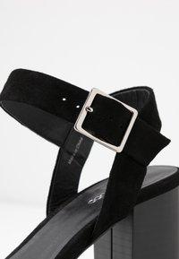 Even&Odd - LEATHER PLATFORM HEELED SANDAL - Korolliset sandaalit - black - 2