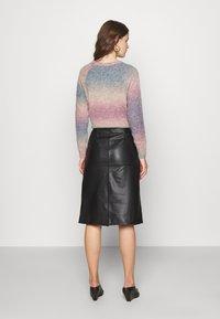 STUDIO ID - HOLLY WRAP ASYMMETRIC MIDI SKIRT - A-line skirt - black - 2