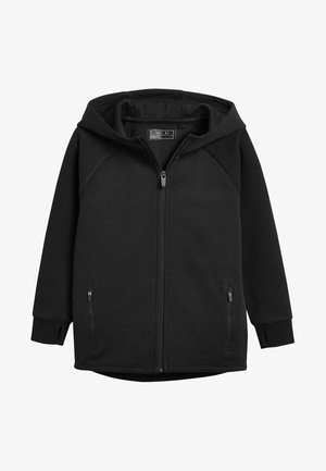 BLACK SPORTS ZIP THROUGH - Mikina na zip - black