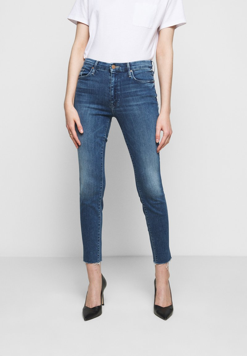 Mother - LOOKER ANKLE FRAY - Jeans Skinny Fit - blue denim