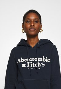 Abercrombie & Fitch - HERITAGE LOGO POPOVER - Hoodie - navy - 4