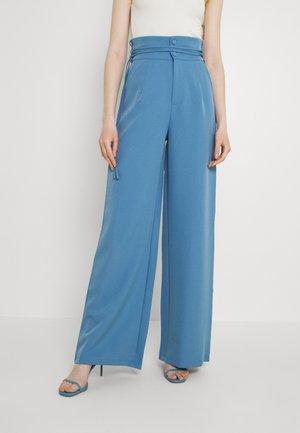 DEEP WAIST BAND WIDE LEG TROUSER - Kalhoty - blue