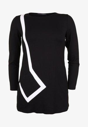 MIT KONTRASTEINSÄTZEN - Tunic - schwarz/weiß