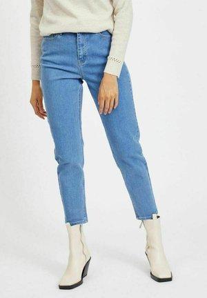 HIGH WAIST - Straight leg jeans - light blue denim