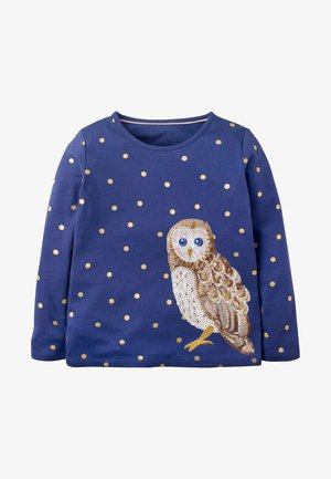 Long sleeved top - segelblau, eule