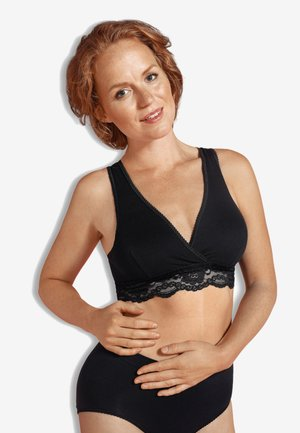 CROSSOVER SLEEPING & NURSING BRA ORGANIC - Alustoppi - black