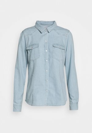 STACY SWAN WASH DALLAS - Button-down blouse - denim blue