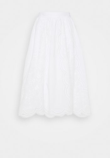 EMBROIDERED SKIRT - A-line skirt - white