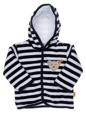 Zip-up hoodie - navy/weiß
