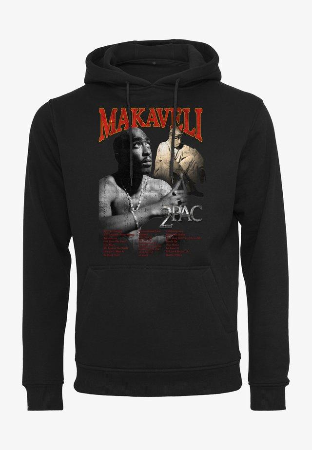TUPAC MAKAVELI - Felpa con cappuccio - black
