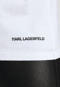 KARL LAGERFELD - IKONIK RHINESTONE KARL - Print T-shirt - white - 5