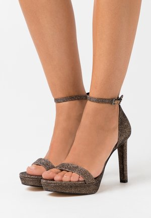 MARGOT PLATFORM - High heeled sandals - bronze