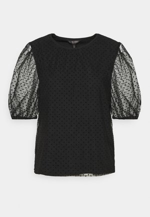 DOUBLE LAYER DOT TEE - Blouse - black