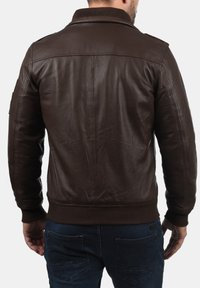 Solid - FAMASH - Veste en cuir - brown - 1
