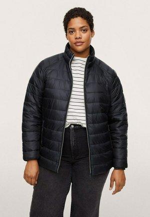 MIT SEITLICHEN ZIPPERN - Winter jacket - schwarz