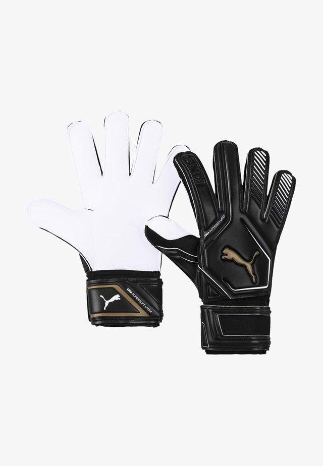 Målvaktshandskar - black-gold- white