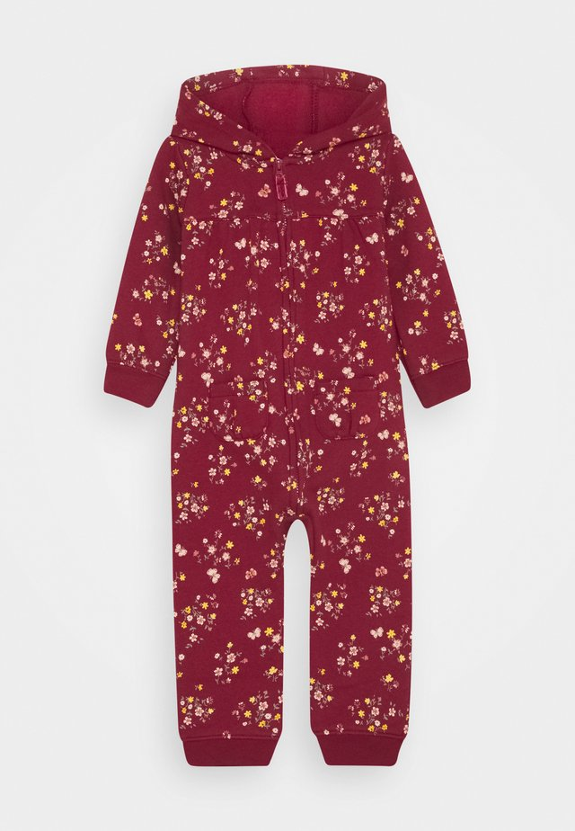 Overall / Jumpsuit - burgundy