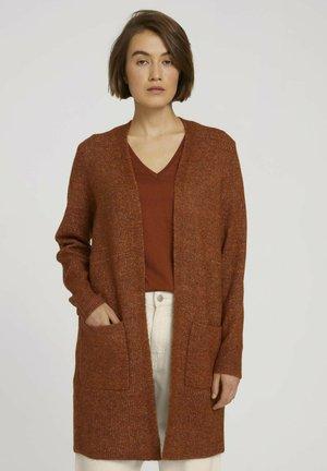COZY LONG - Cardigan - amber brown melange