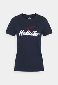 Hollister Co. - TIMELESS - Print T-shirt - navy