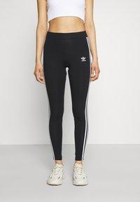 adidas Originals - STRIPES COMPRESSION - Leggings - black - 0