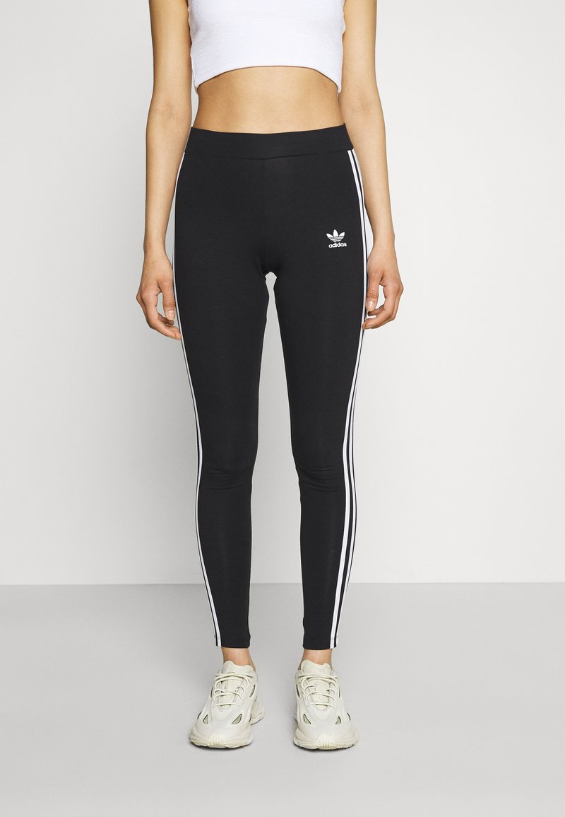 adidas Originals - STRIPES COMPRESSION - Leggings - black