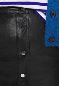 Deadwood - LARA SKIRT - Leather skirt - black - 4