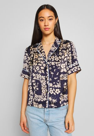 PRINTED HAWAIIAN SHORT SLEEVE - Button-down blouse - combo